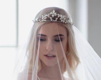 Wedding Veil Soft Tulle Bridal Veil Simple Elegant Cathedral Veil Soft Wedding Veil One Tier White Ivory Veil Raw Edge Chapel Veil