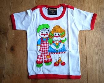 59539861d4ed 80s Kitsch Kids T Shirt Retro Style Vintage New and Unworn