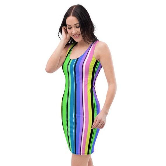 Rainbow Watercolor Pastel Pride Dress