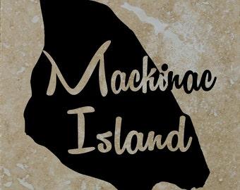 Mackinac Island Coasters set of 4 Free Shipping