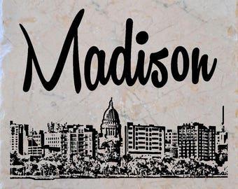 Madison Skyline Coasters set of 4