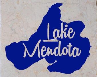 Lake Mendota in Wisconsin Coasters set of 4