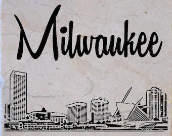 Milwaukee Skyline Coasters set of 4