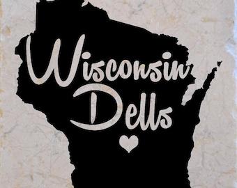 Wisconsin Dells Coasters set of 4