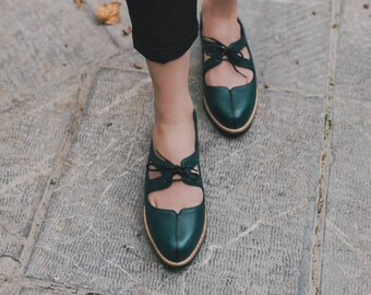 61160ca0702e Women Leather Shoes, Black Leather Oxfords, Oxford Shoes, Painted Leather  Shoes, Closed Shoes, Brown Shoes, Handmade,Black Oxford,