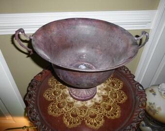 Fancy metal urn