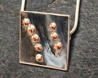 Handmade Silver & Copper Pendant