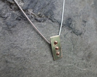 Artisan Silver & Copper Pendant.
