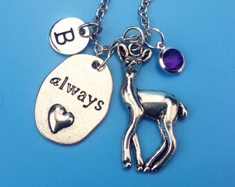 Alwatys Necklace Pendant, Deer Pendant, Bff Necklace, Personalized Necklace, Bridesmaid Necklace, Custom Charm Necklace, Deer Pendant, Deer