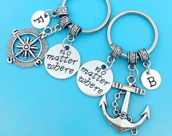 Maritime Realistic Anchor Key Chain In Pewter