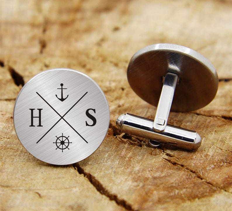 engraved cufflinks custom personalized cufflinks tie clip engraved wedding cufflinks engrave mountains Engraved  mountain cuff links