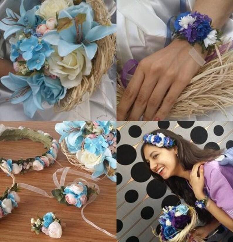 set of 7 Bridesmaid robes  wedding party robes  bridal party robes  beach party robes  women for robes  kaftan robes  blue robe