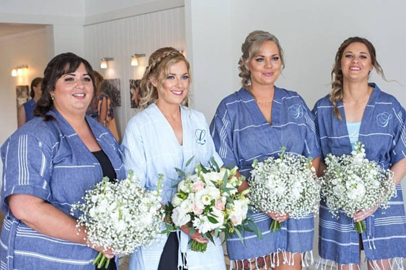 bridesmaid robes  set of 3 kimono robes  turkish kaftan robe  wedding party robes  bridal party robe  bachelorette robe