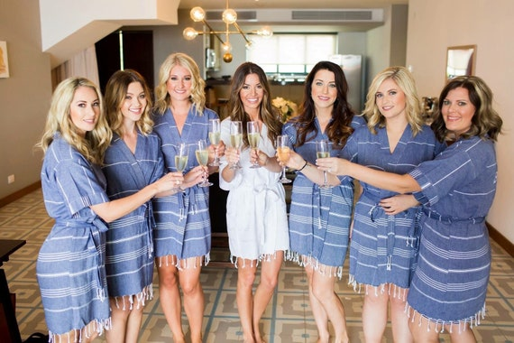 perfect quality great discount fast color Navy bridesmaid robes // bridal party robes // wedding party robes //  bachelorette beach robe