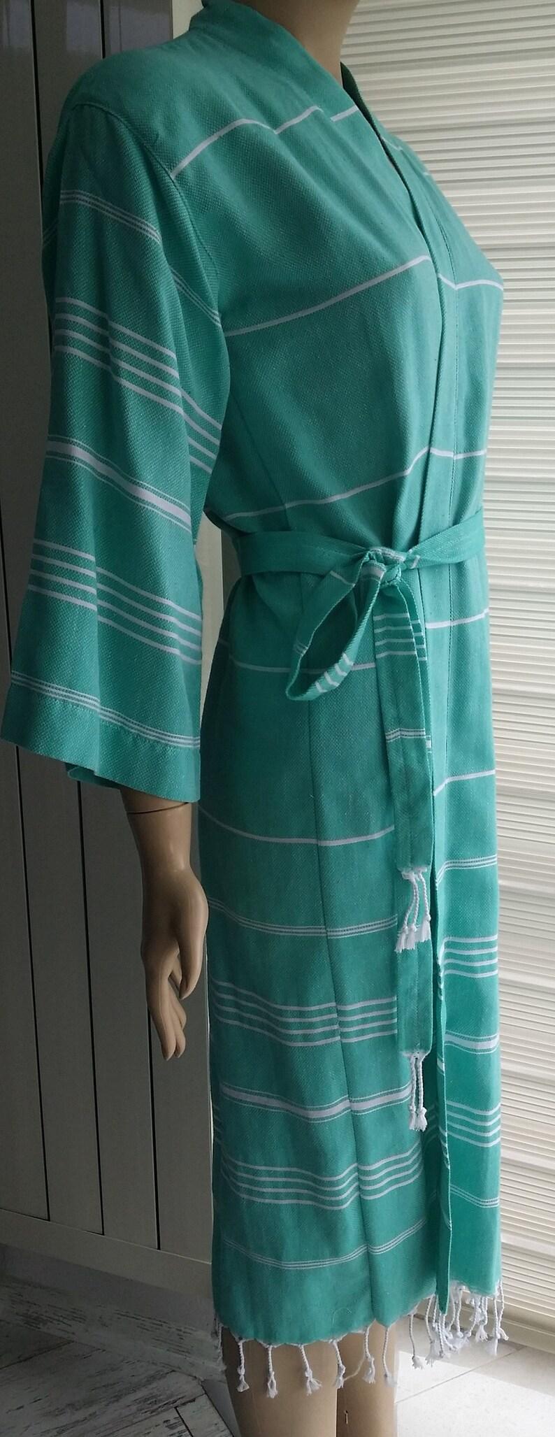 Green long robe  bridesmaid robe  bridal party robe kimono kaftan robe