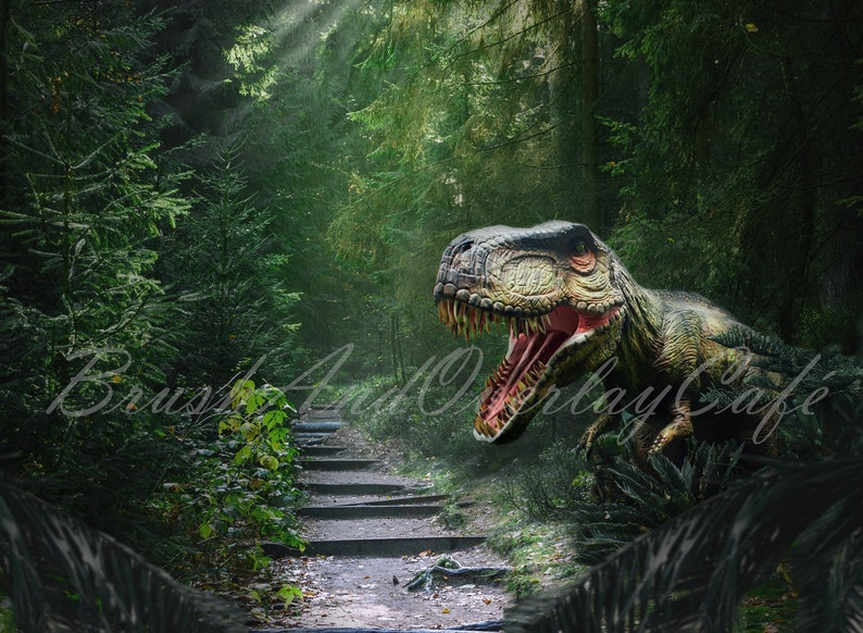 FondoEtsy De Jurassic World Parkjurassic Inspirado Telón Ib6fgy7vY