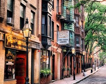NEW! Classic Beacon Hill neighborhood on Myrtle Street in downtown Boston - Boston artwork - Boston photography - FREE SHIPPING!