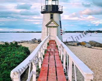 NEW! Nantucket Brant Point Light on Ack - Nantucket Sunset - Nantucket Harbor - FREE SHIPPING!