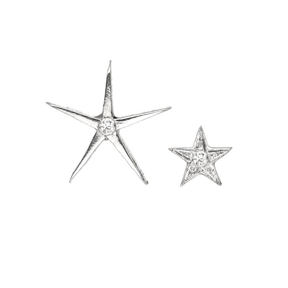 Star stud earrings Mix and Match diamond Star studs Diamonds  c228262571