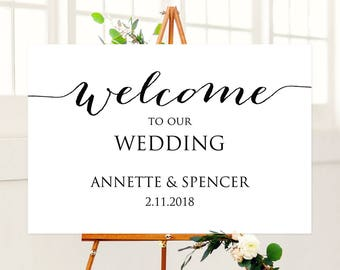 Welcome To Our Wedding Sign Printable Signs Template