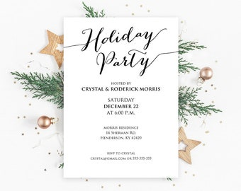 holiday party invite etsy