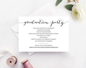 Graduation Card Template | Grad Card Template Etsy