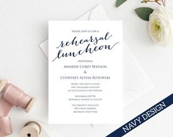 Post Wedding Lunch Invitation Template Diy Printing Custom Etsy