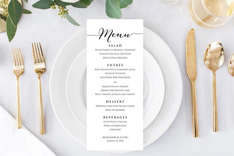 Menu Cards Menu Template Menu Wedding Wedding Menu Cards Wedding Menu Printable Dinner Menu Lunch Menu Wedding Menu Template