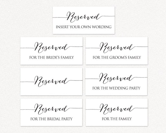 image regarding Printable Reserved Sign titled Printable Reserved Wedding ceremony Signs and symptoms, Reserved Desk Signs or symptoms, Wedding ceremony Printables, Marriage ceremony Reception Signs and symptoms, PDF Fast Down load