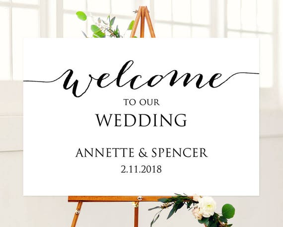 Welcome to Our Wedding Sign Wedding Welcome Sign Printable | Etsy