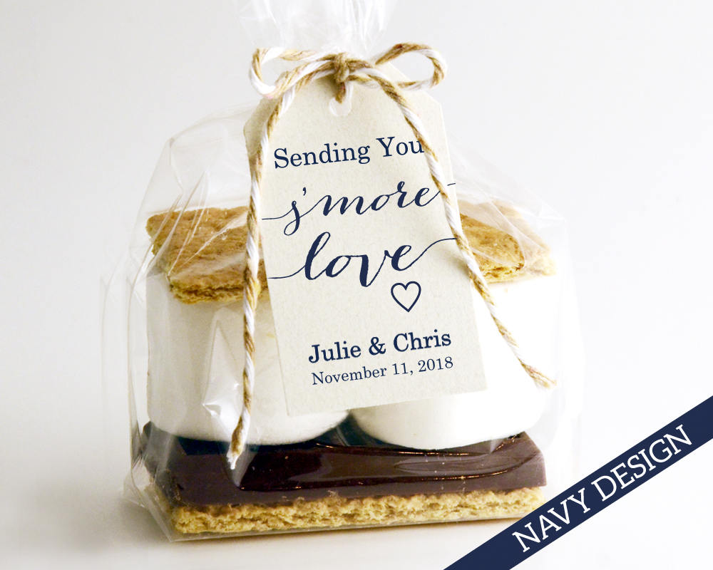 Sending You S\'MORE Love Tag Template Wedding Favor Tag