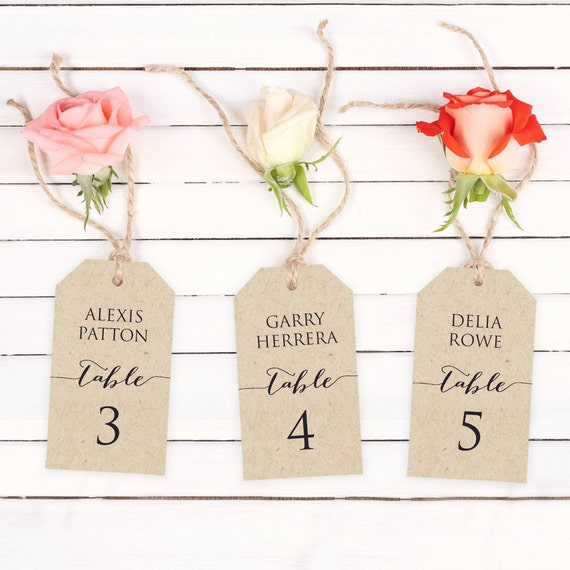 Escort Card Template Wedding Place Card Template Seating Etsy
