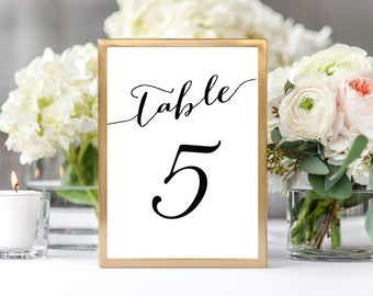 1-50 Table Numbers Printable, Table Numbers Wedding, Table Numbers Cards, Table Numbers Framed, Table Numbers Template,Wedding Table Numbers