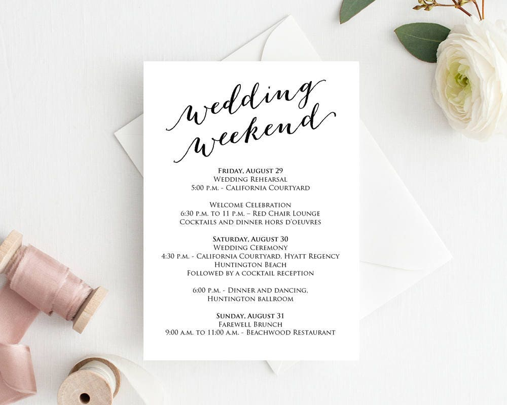 wedding day timeline template pdf