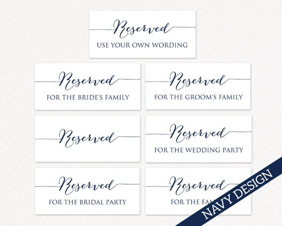 image regarding Printable Reserved Table Signs identify Printable Reserved Wedding ceremony Signs and symptoms, Reserved Desk Signs or symptoms, Marriage Printables, Marriage Reception Indications, PDF Instantaneous Down load