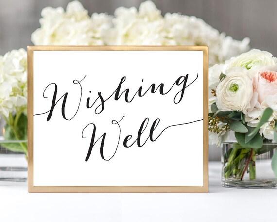 Wishing Well Sign Template Diy Sign Printable Wedding Etsy