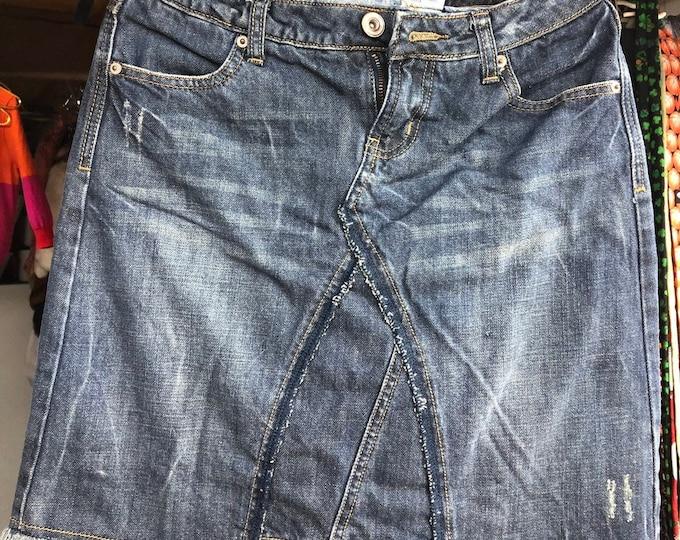Up cycled jean mini skirt, Blue denim skirt, Hippie fashion