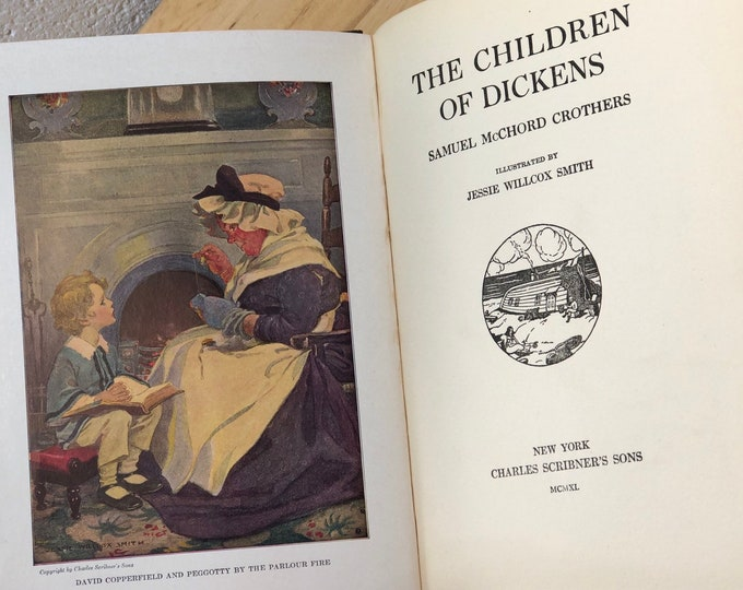 Antique Literature Book, The Children of Dickens, Collectible Home Library
