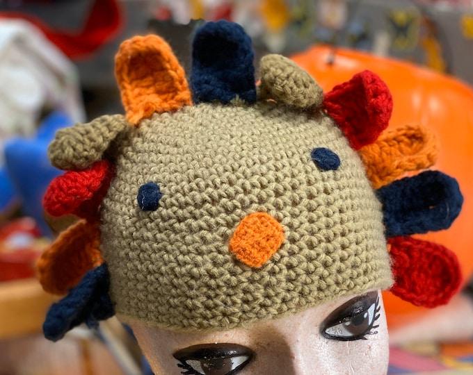 Thanksgiving baby Beanie Cap, unisex turkey Hat for Child