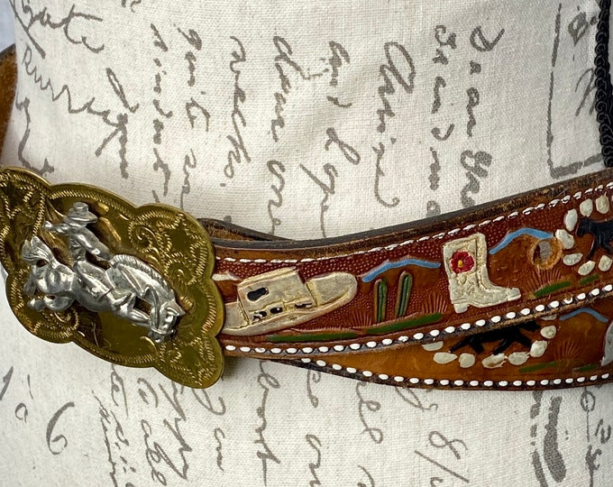 Country Western Belt, Cowboy Belt, Cowgirl Belt, Southwestern Style