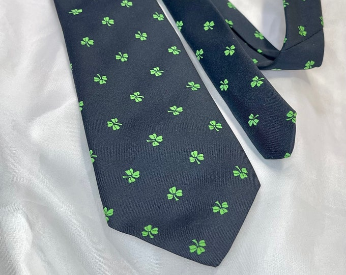 Shamrock Necktie, Saint Patrick's Day Tie, Made In Ireland