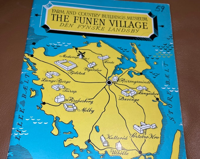 The Funen Village Guide Book, Farm and Country Buildings Museum Map Paperback
