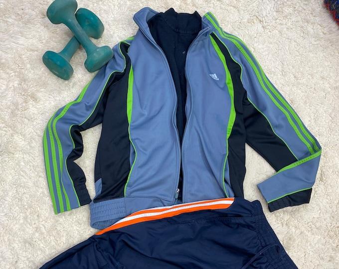 Retro Warm up jacket, Adidas Track Suit Coat, Sweat Suit Jacket
