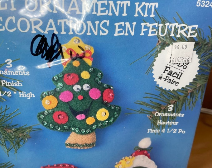Christmas Ornaments Kit, Holiday Craft Project, handmade patterns