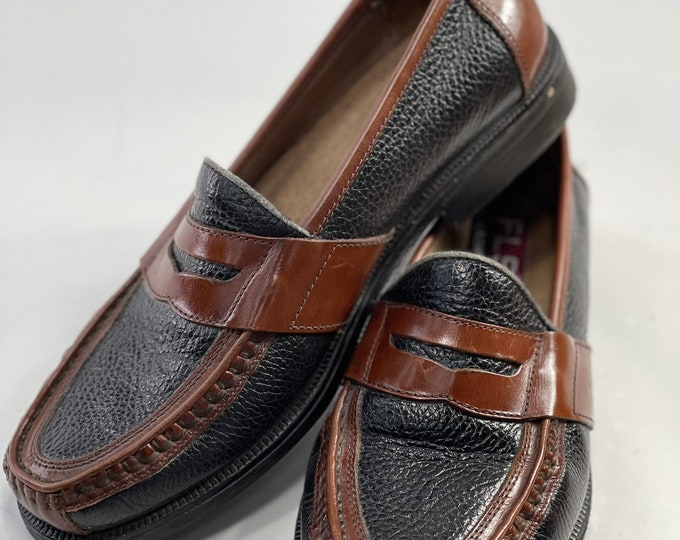 Men's Penny Loafer Shoes, Retro Style Man's Slip On Casual Shoe, Size 8 Men's