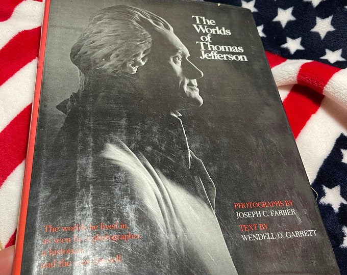 The words of Thomas Jefferson book, Vintage Illustrated word and world of Thomas Jefferson