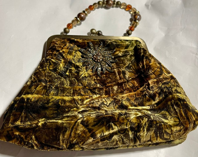 Autumn Handbag, Fall Colors Formal Purse, Evening Bag