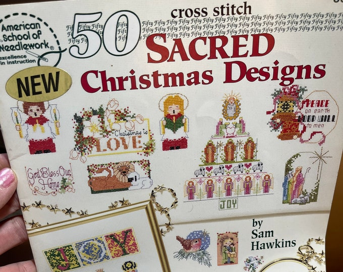 Cross Stitch Christmas Patterns, Sacred Christmas Designs Needlework Booklet