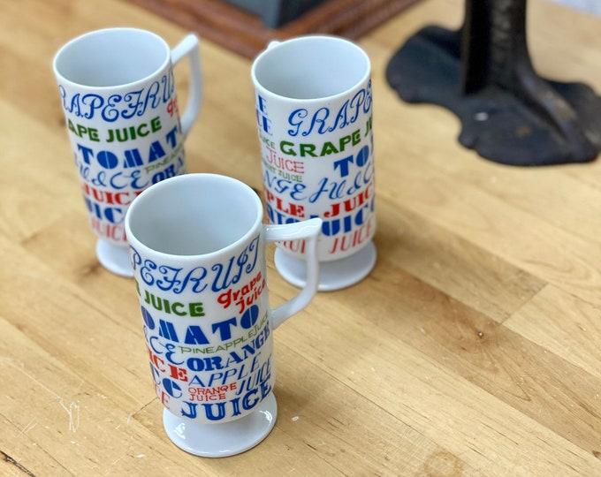 Retro Juice Cups, Mid Century Juice Glasses, Royal Crown Drinkware
