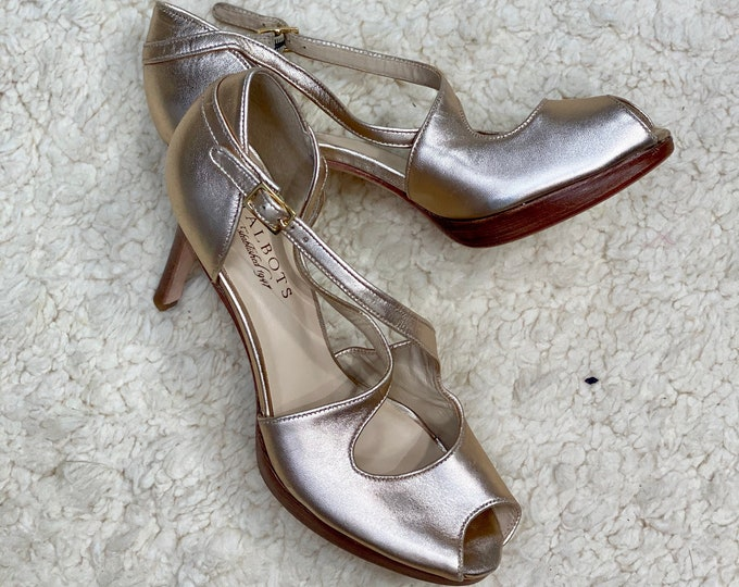 Gold Women's Shoes, High Heel Shiny Pumps,  Sparkle Party Heels